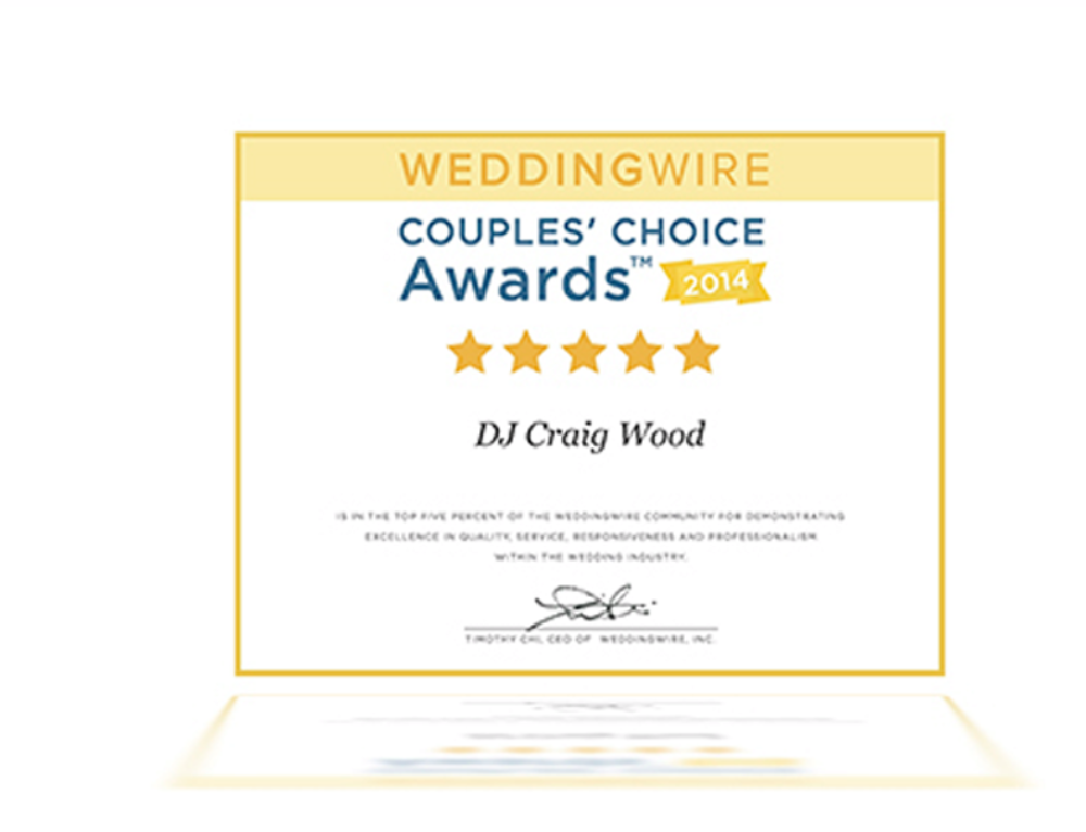 WeddingWire Couple's Choice Award 2014